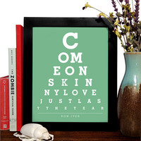 Bon Iver, Come On Skinny Love Just Last The Year, 8 x 10 Giclee Art Print, Buy 3 Get 1 Free