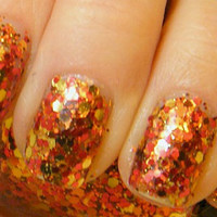 Autumn Leaves: hand mixed glitter nail polish Full size .5 oz. Coco Allure