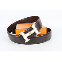 Hermes belt men's and women's casual casual style H letter fashion belt314