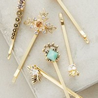 Galanteries Bobby Set by Anthropologie in Mint Size: Set Of 6 Hair