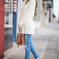 Just Between Us Sweater, Ivory