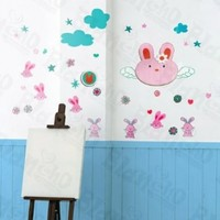 Hemu Home Bedroom Cabinet Door Decorative Lovely Rabbit X-Large Wall Decals Stickers Appliques