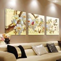 modern flower paintings,wall pictures for living room,abstract decoration pictures posters,flower fantasy painting wall art