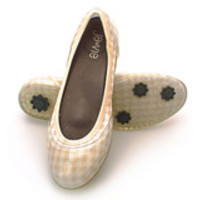 Gingham/Tan Flats-Available 3.15