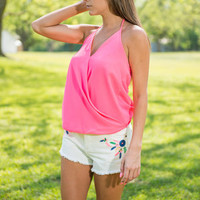Out Of The Park Tank, Neon Pink