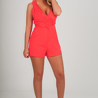 Ark & Company: Maybe Eventually Romper: Coral