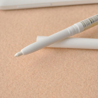 White WaterProof Retractable Eyeliner Pencil Stick with Eraser + Cap 1pc white