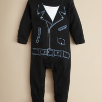 Sara Kety Infant Boys' Motorcycle Footie - Sizes 3-9 Months