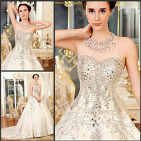 YZ Sweetheart Beaded Crystal Beautiful Sexy Ball Gown