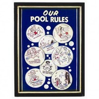 RAM Gameroom Our Pool Rules Wall Sign - ODR200 - All Wall Art - Wall Art & Coverings - Decor