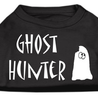 Ghost Hunter Screen Print Shirt Black with White Lettering XXL (18)