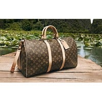 LV classic old chess board for men and women travel bags