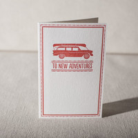 To New Adventures Card