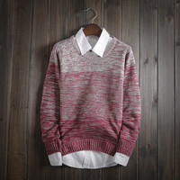 Fashion Mens Winter Slim Fit Warm Knit Sweater