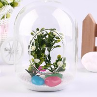 1pc Glass Vase Container