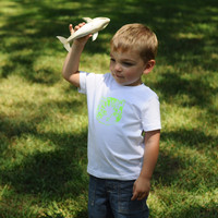 Kids Kitty Tee | Neon Green