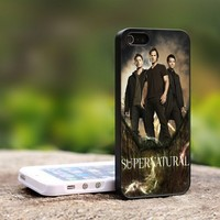 SUPERNATURAL Television Series - For iPhone 4,4S Black Case Cover