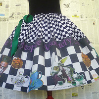 Mad Hatters Tea Party Costume, Alice In Wonderland Costume, Mad Hatter Skirt, ROOBY LANE, Womens Costume
