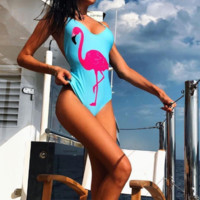 Flamingo swimsuit one piece swimwear bathsuit