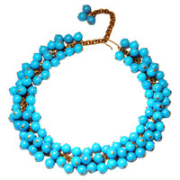 One Kings Lane - Cool & Classic - Blue Lucite Bead Necklace