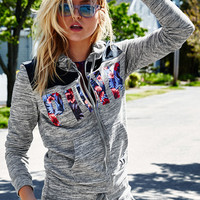 Bling Perfect Full-Zip Hoodie - PINK - Victoria's Secret
