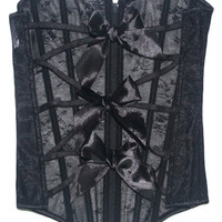 Black Lace and Bow Tie Corset