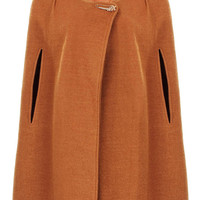 Light Brown Coat With Cape Sleeve