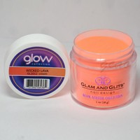 Glam and Glits GLOW ACRYLIC Glow in the Dark Nail Powder 2012 - WICKED LAVA
