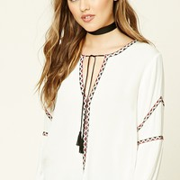 Boxy Tribal-Inspired Top