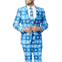 The Young Frosty Ugly Christmas Sweater Snowflake Dress Suit