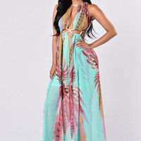 Vacation With Me Dress - Turquoise