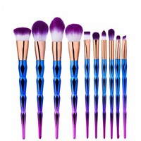 Blue Unicorn Makeup Brush Set