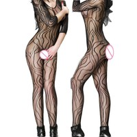 Women's Sexy Lingerie Hot Bodystocking Sexy Body Costumes Erotic Underwear Teddies Bodysuits Crotchless Open Crotch Shop WY150