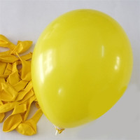 Latex Solid Balloons, 12-inch, 12-Piece, Yellow
