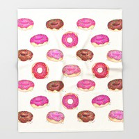 Homemade Doughnuts Throw Blanket by Perrin Le Feuvre | Society6