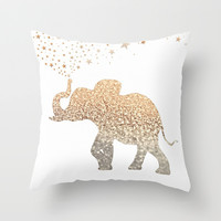 ELEPHANT Throw Pillow by Monika Strigel | Society6