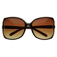 Womens Fashion Oversize Designer Square Sunglasses 2384
