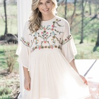 Scottsdale Embroidered Dress, Natural