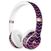 Purple and Red Grunge Clouds with White Chevron Full-Body Skin Kit for the Beats by Dre Solo 3 Wireless Headphones