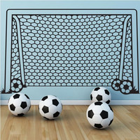 KW31604Art Wall Stickers DIY  Home Decorations Soccer Football Goal Wall Decals Living Room Decorative stickers  Free shipping