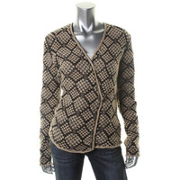 Lucky Brand Womens Knit Long Sleeves Cardigan Sweater