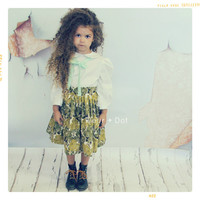 Peter Pan Collar Girls Blouse by Fleur and Dot