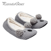 New Koala Bear Pattern Women Home Shoes House Indoor Comfortable Spring Women Slippers Pasoataques Brand