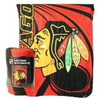 "Chicago Blackhawks Lightweight Fleece Blanket (Measures 50"" x 60"")"