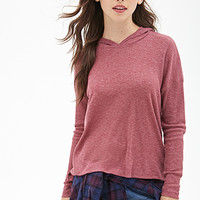 FOREVER 21 Ribbed Pullover Hoodie