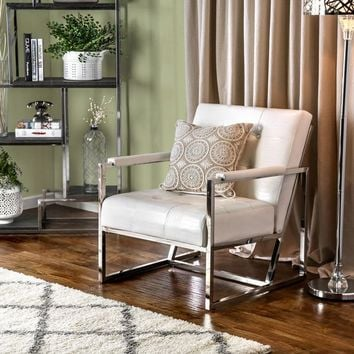 Furniture of America Huntress Crocodile Leatherette Tufted Arm Chair | Overstock.com Shopping - The Best Deals on Living Room Chairs