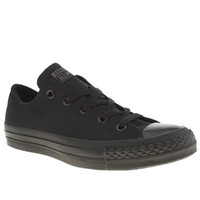 Women's Black Converse All Star Ox Mono Trainers | schuh