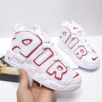 """Nike Air More Uptempo """"Varsity Red"""" Toddler Kid Shoes Child Sneakers - Best Deal Online"""