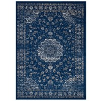 Lilja Distressed Vintage Persian Medallion 5x8 Area Rug