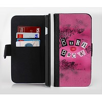 The Burn Book Pink Ink-Fuzed Leather Folding Wallet Credit-Card Case for the Apple iPhone 6/6s, 6/6s Plus, 5/5s and 5c